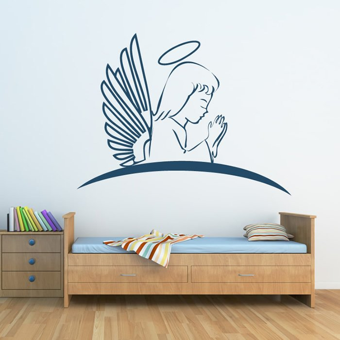 Angel Praying Wall Sticker Angel Wall Art