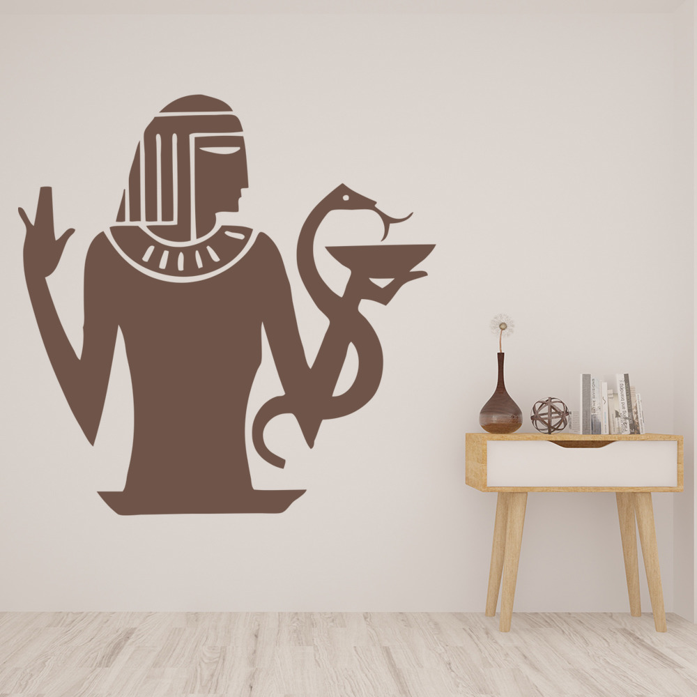 Egyptian Figure And Snake Rest of the World Wall Stickers Home Decor Art Decals