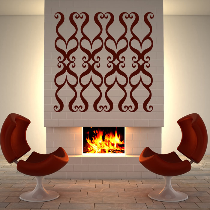 Heart Swirl Wall Sticker Decorative Wall Art