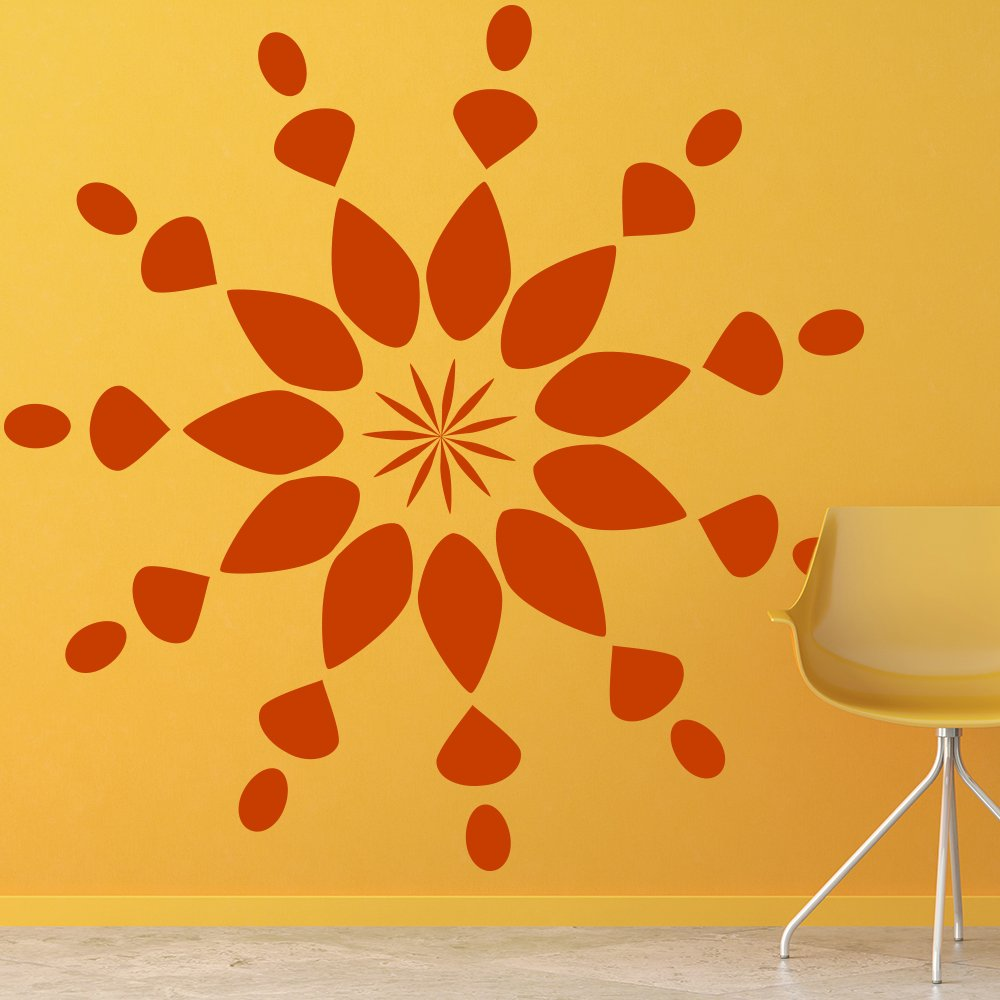 Floral Star Design Wall Art Sticker Wall Decal