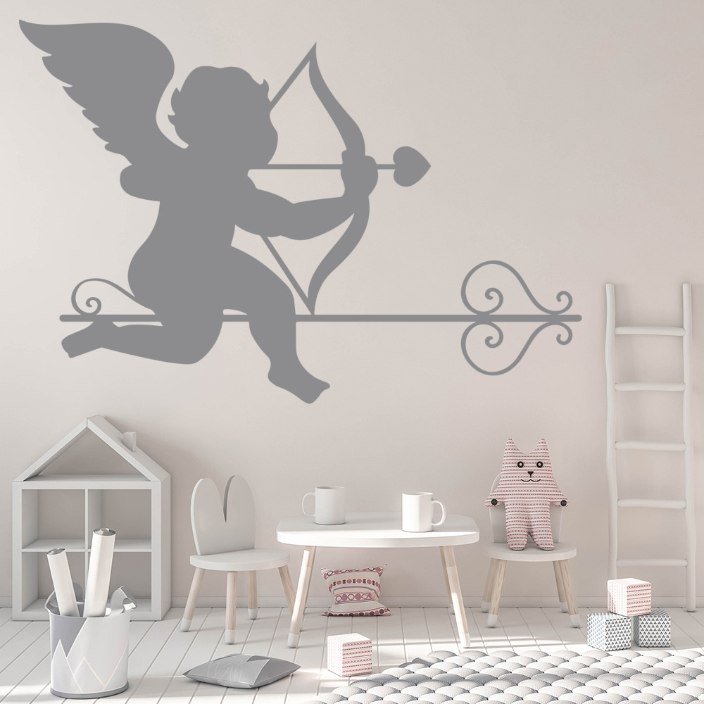 Cupid and Arrow Wall Sticker Valentines Wall Art