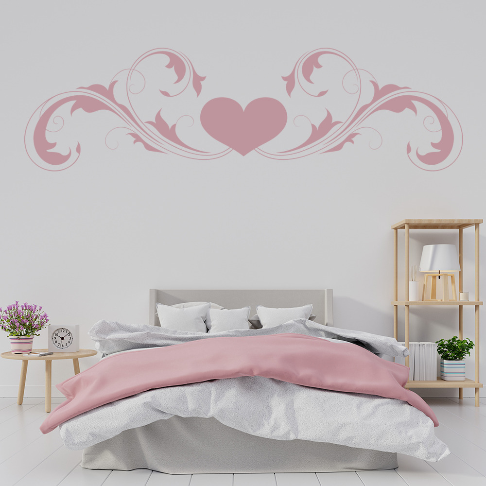 Heart Embellishment Wall Sticker Decorative Wall Art