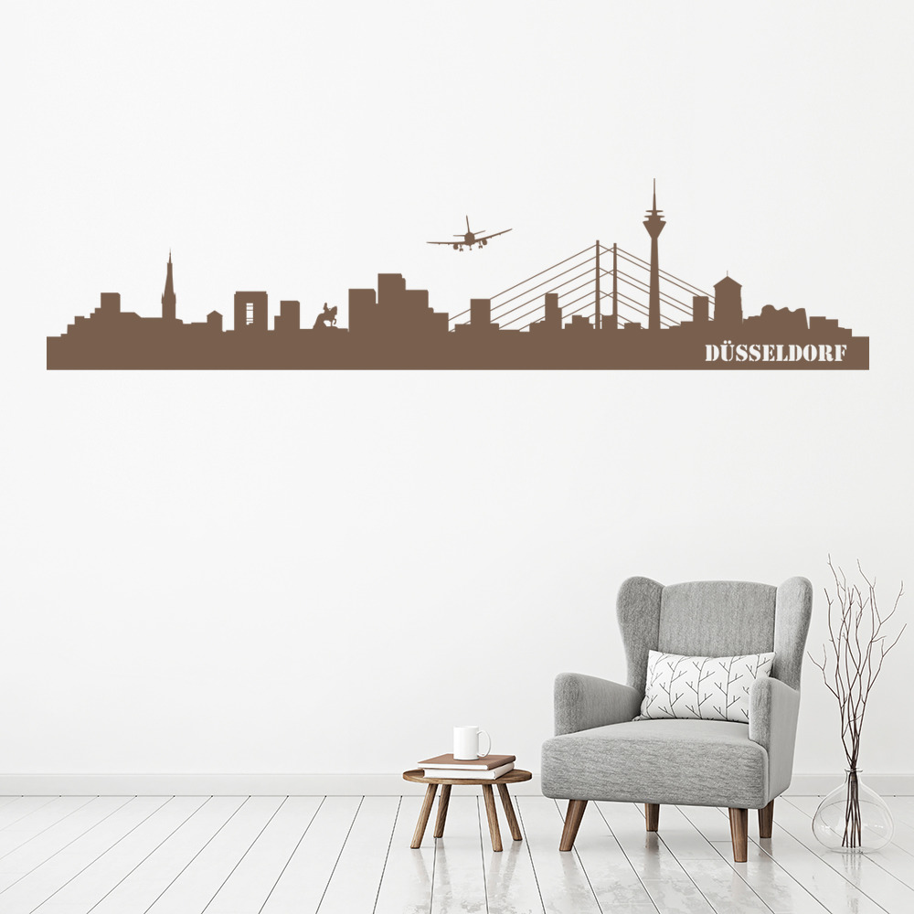 Dusseldorf Skyline Germany Rest of the World Wall Stickers Home Decor Art Decals
