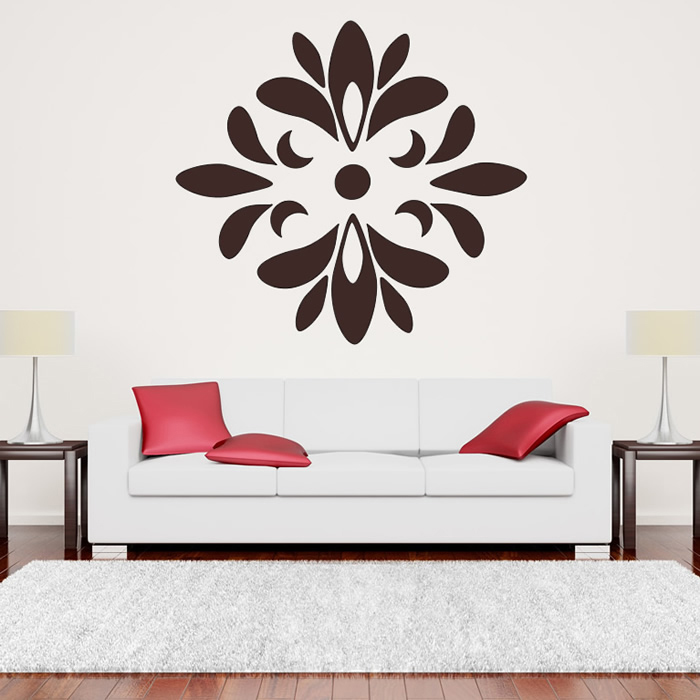 Floral Circular Print Wall Art Sticker Wall Decal