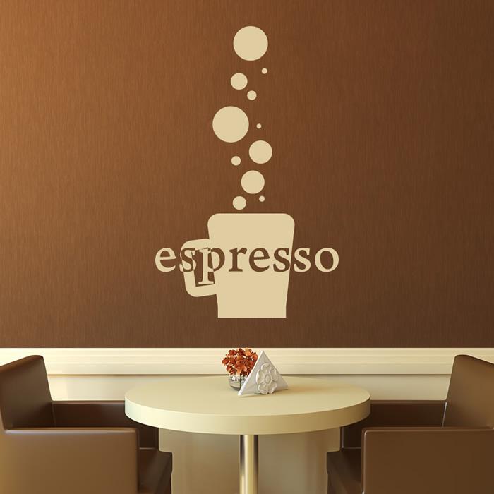 Espresso Cup Wall Sticker Decorative Wall Art