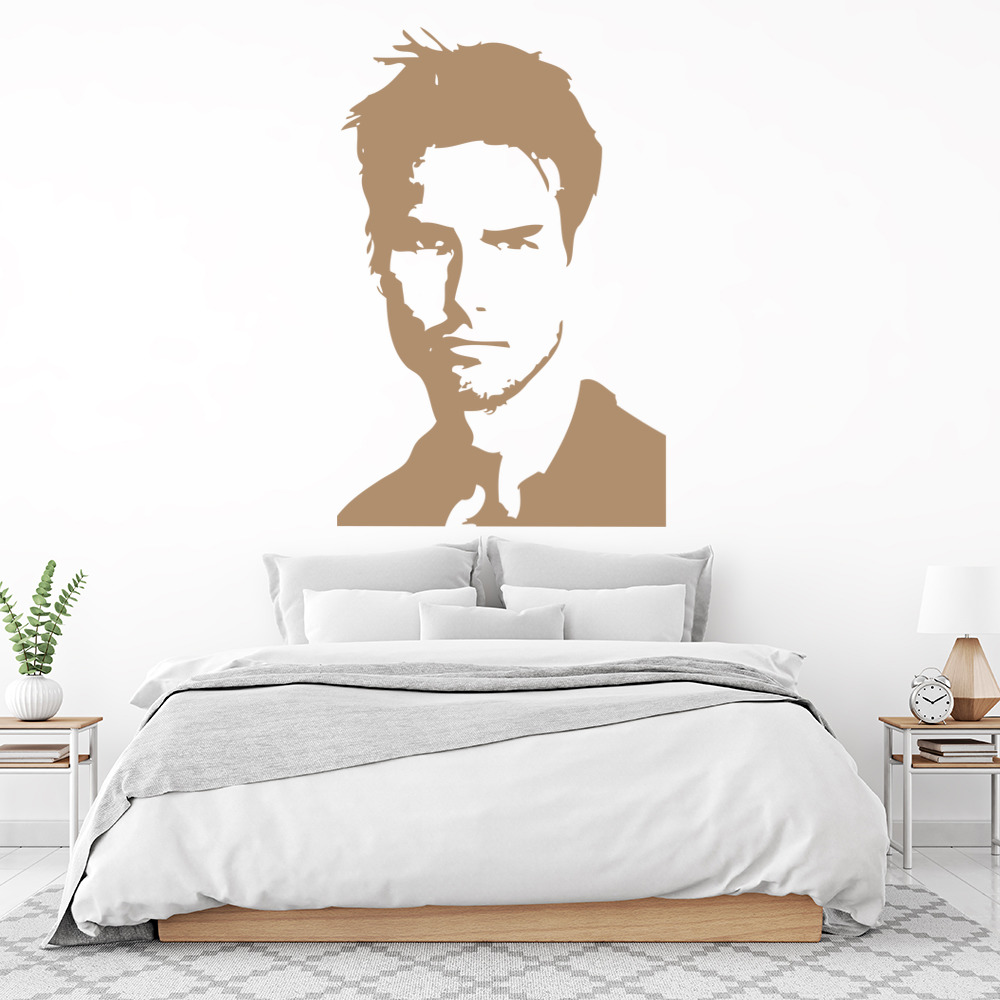 Tom Cruise Portrait Wall Sticker Actor Wall Art