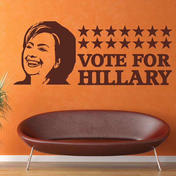 Hillary Clinton Vote Wall Sticker Icon Wall Art