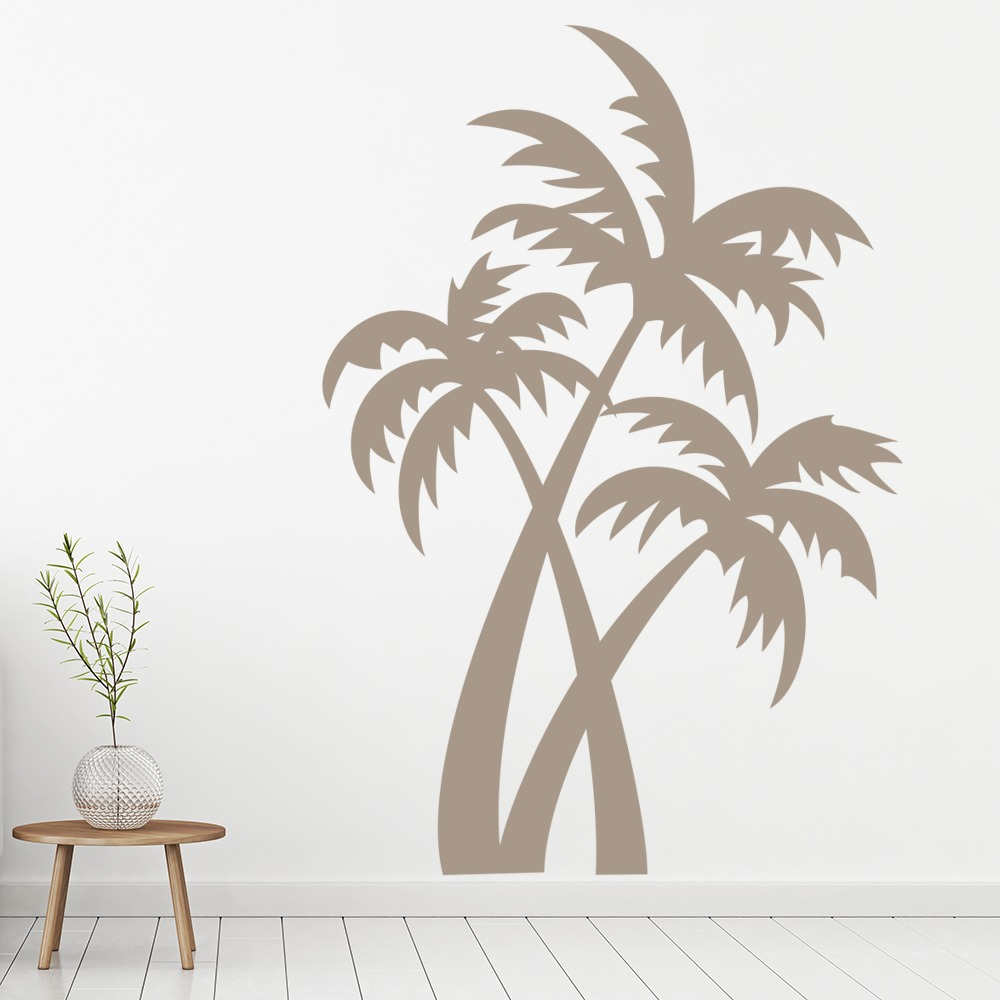 green and white bathroom palm tree wall stickers nature wall decal 18568
