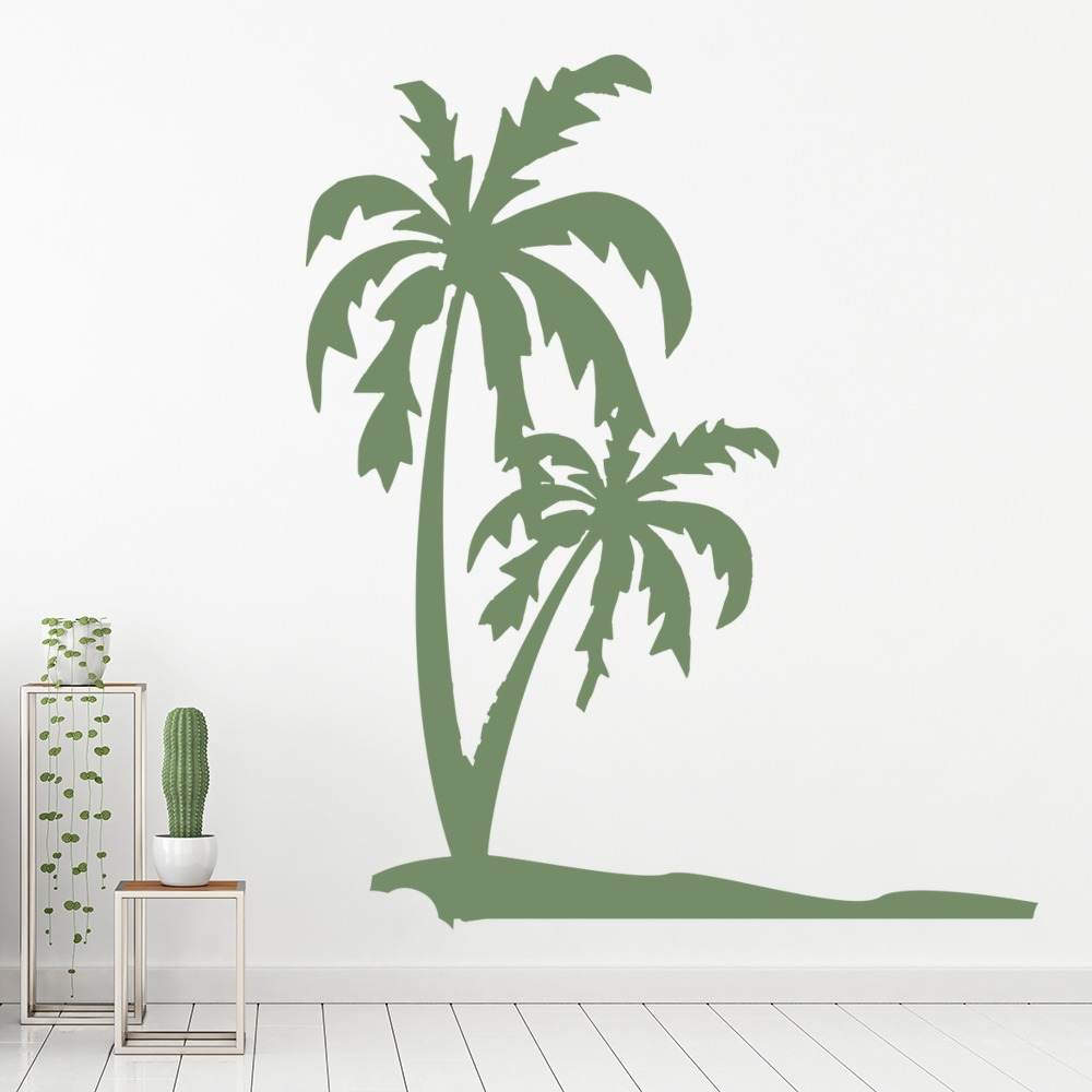 Palm Trees & Beach Tropical Flowers And Trees Wall Stickers Home Decor Art Decal