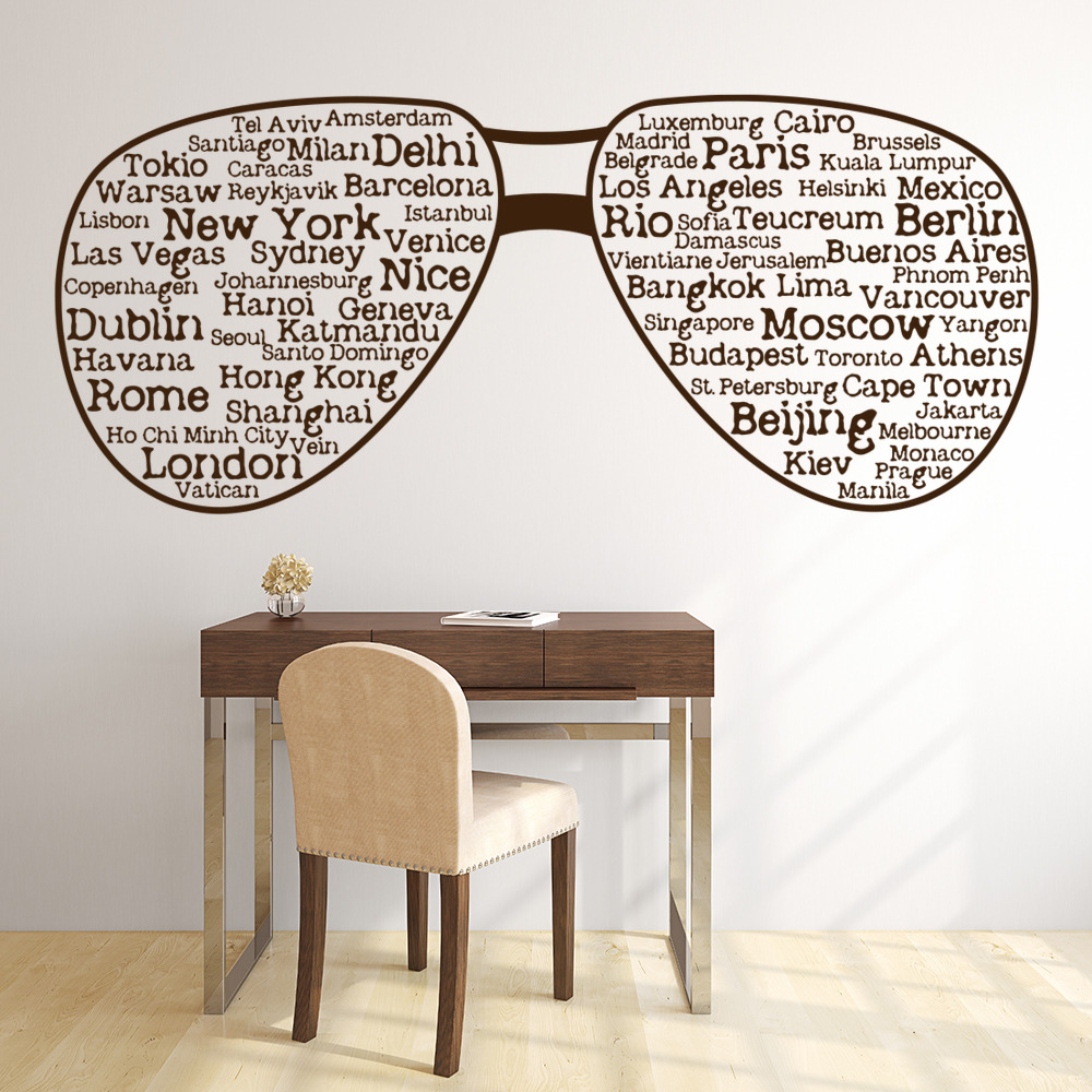 city sunglasses wall sticker decorative wall art city wall decals submited images