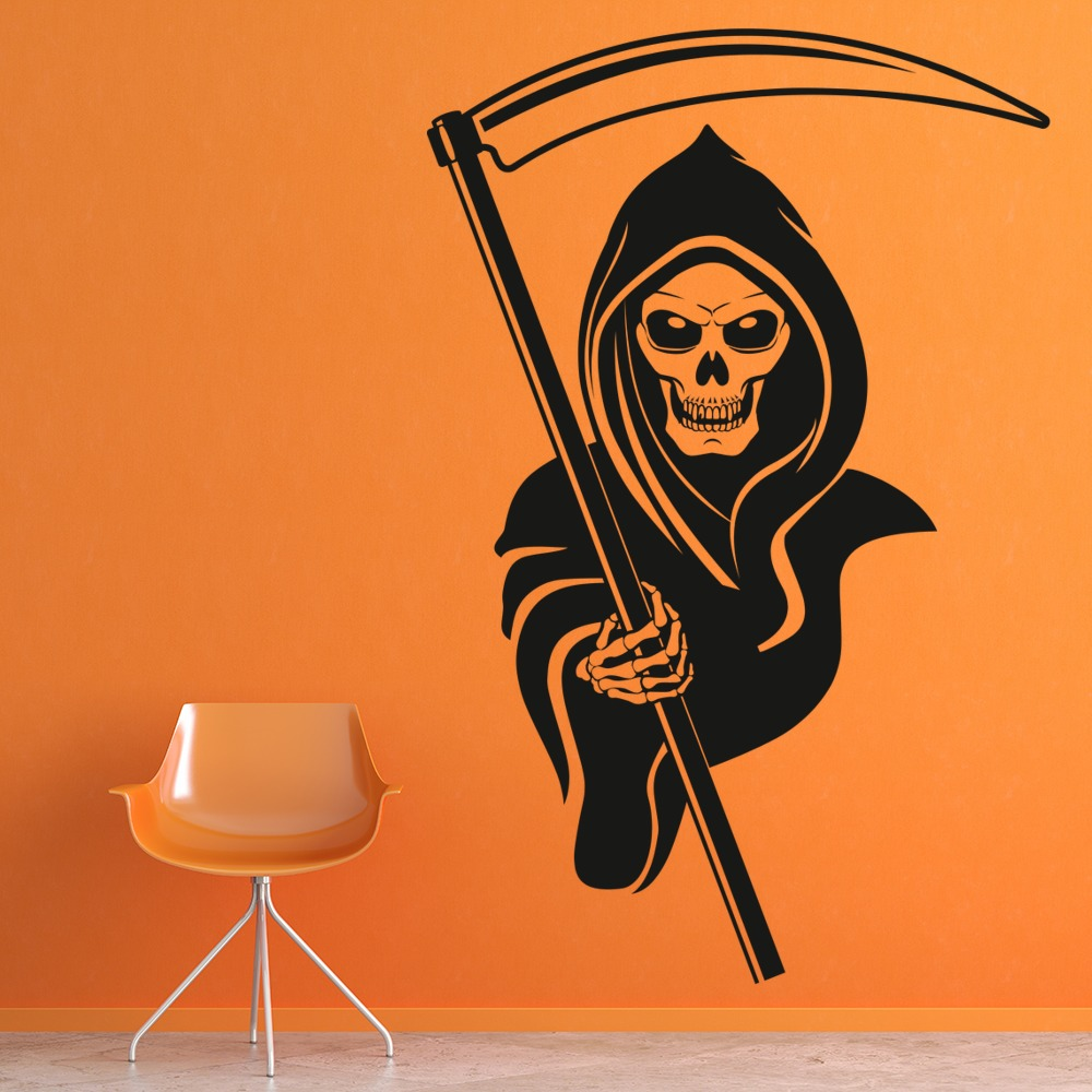 Grim Reaper Wall Sticker Skull Wall Art