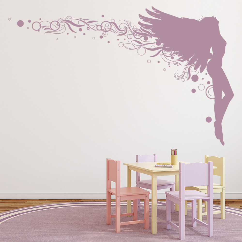 Leaning Angel Wall Sticker Angel Wall Art