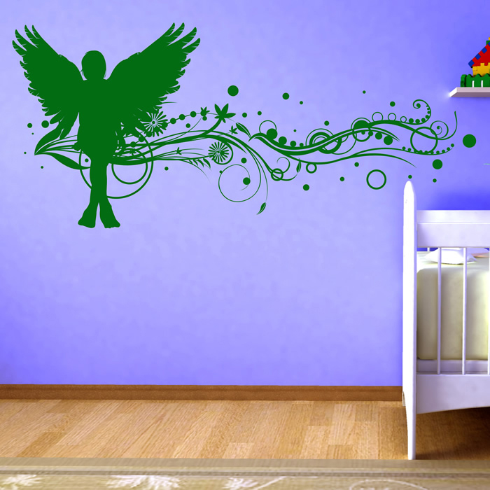 Floral Angel Wall Stickers Angel Wall Art