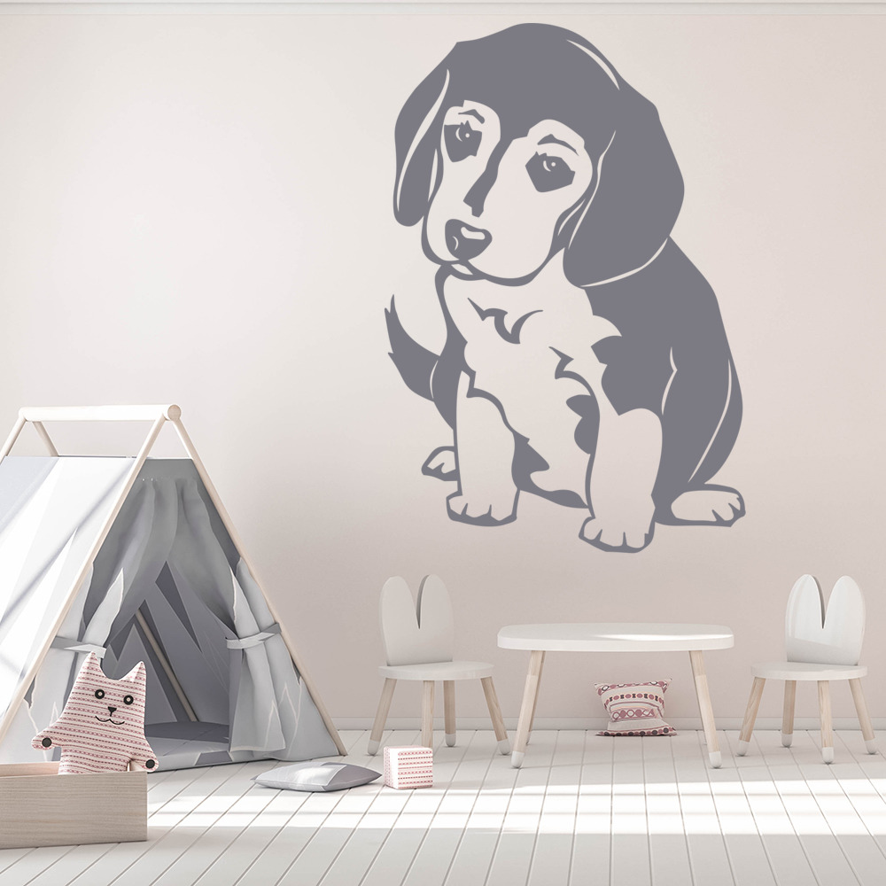 Beagle Puppy Dog Wall Sticker Animals Pets Wall Decal Kids
