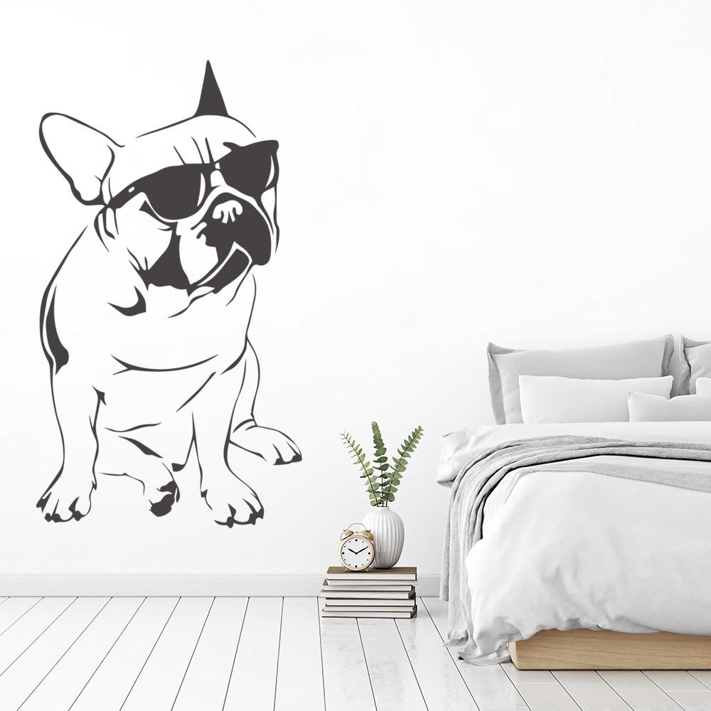 French Bulldog Wall Sticker Funny Animals Dog Wall Decal
