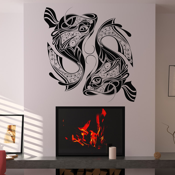 Decorative Fish Abstract Sea Life Under the Sea Wall Sticker Bathroom Art Decals