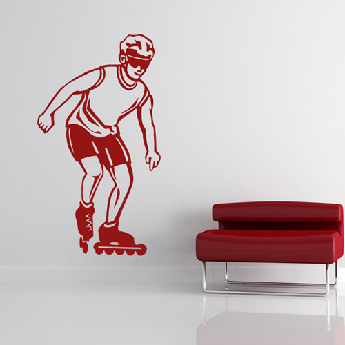 Roller Skater Sports And Hobbies Wall Stickers Wall Art Decal