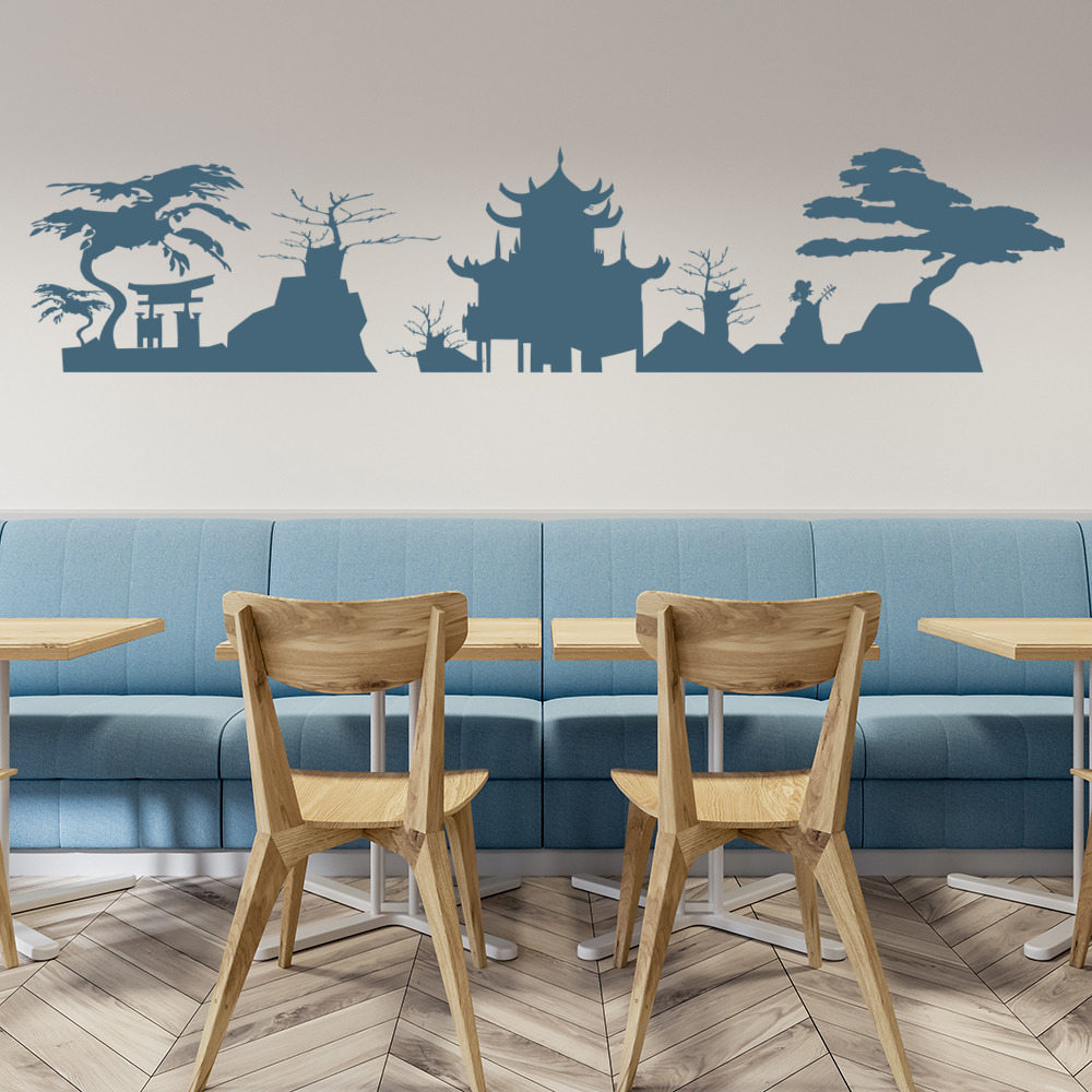 Japanese Skyline Japan Rest of the World Wall Stickers Home Decor Art Decals
