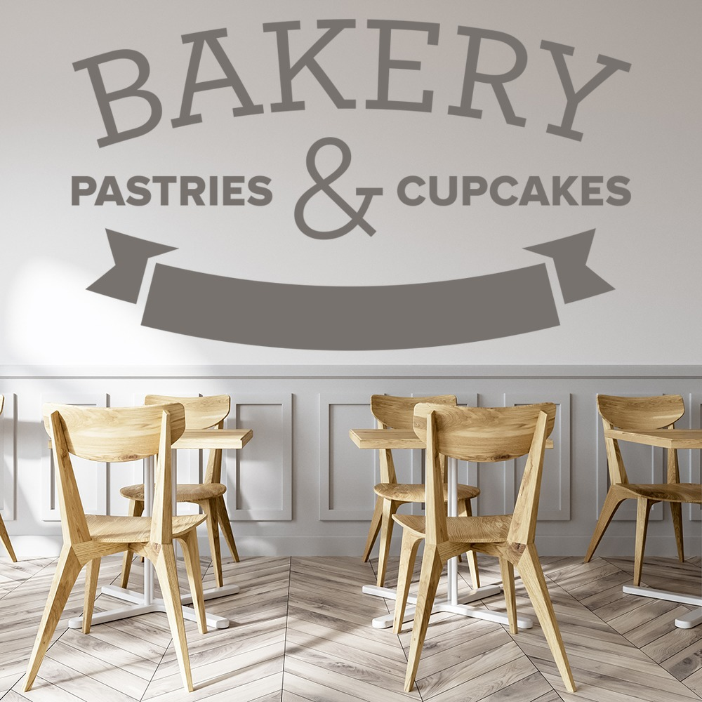 Bakery Sign Wall Sticker Sign Wall Art