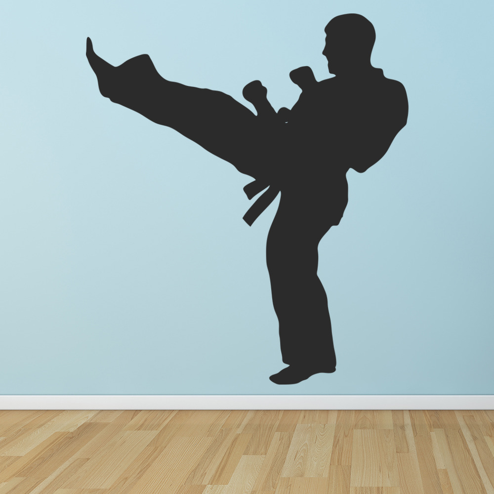 Karate High Kick Wall Sticker Martial Arts Wall Art