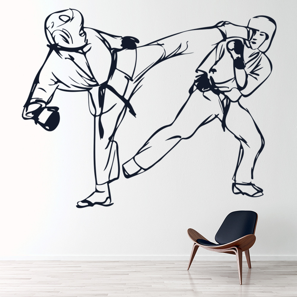 Karate Kick Wall Sticker Martial Arts Wall Art