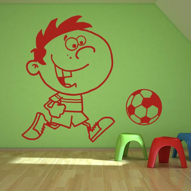 Kids Football Wall Art Decal Decorative Wall Decal