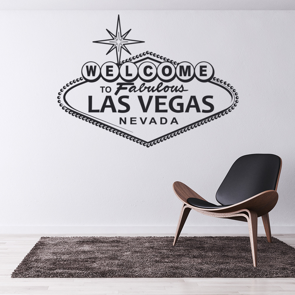 Las Vegas Wall Sticker Welcome Sign Wall Decal USA