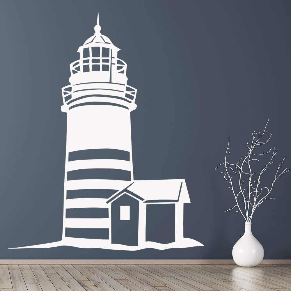 Lighthouse Scene Wall Sticker Landmark Wall Art