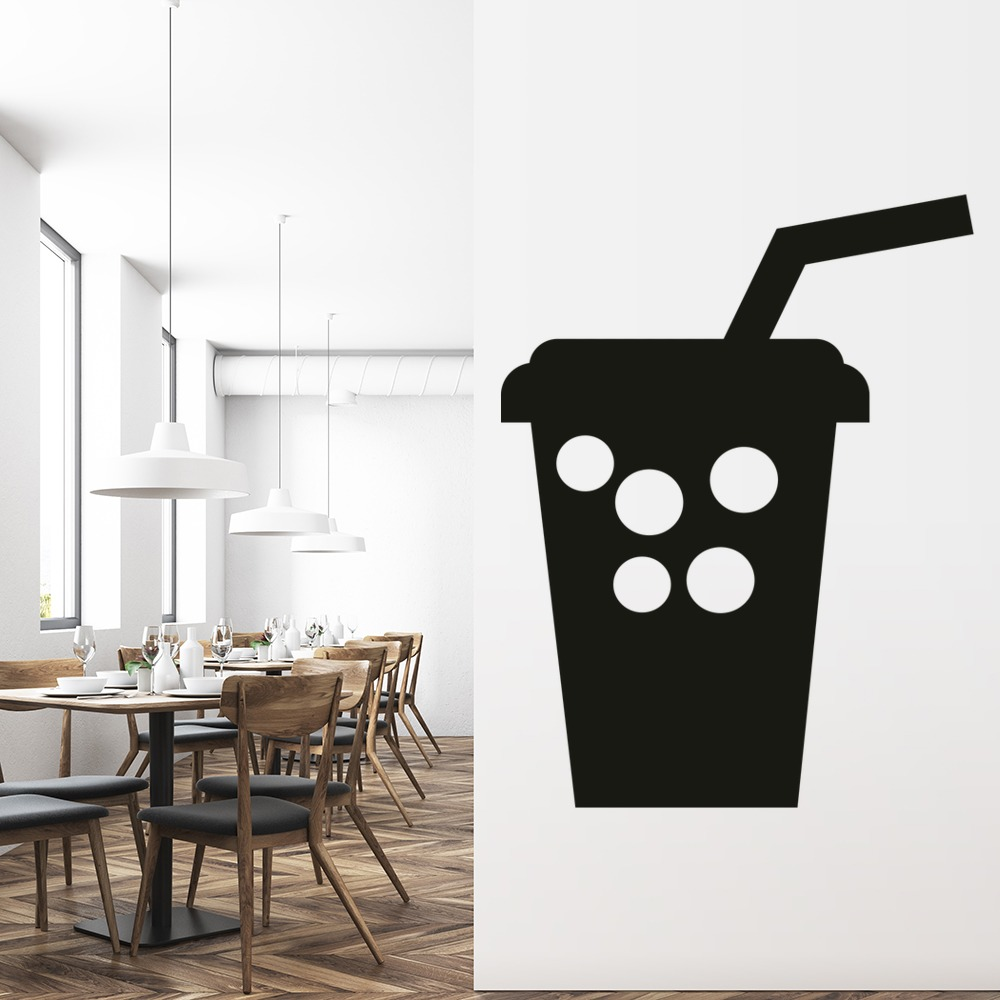 Drink Carton Wall Sticker Cartoon Wall Art