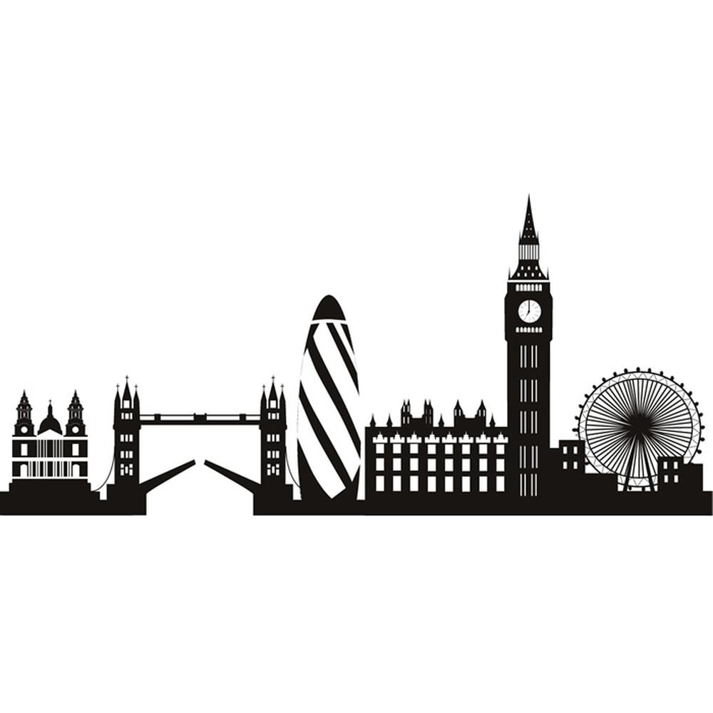 London City Skyline Wall Sticker United Kingdom Wall Decal