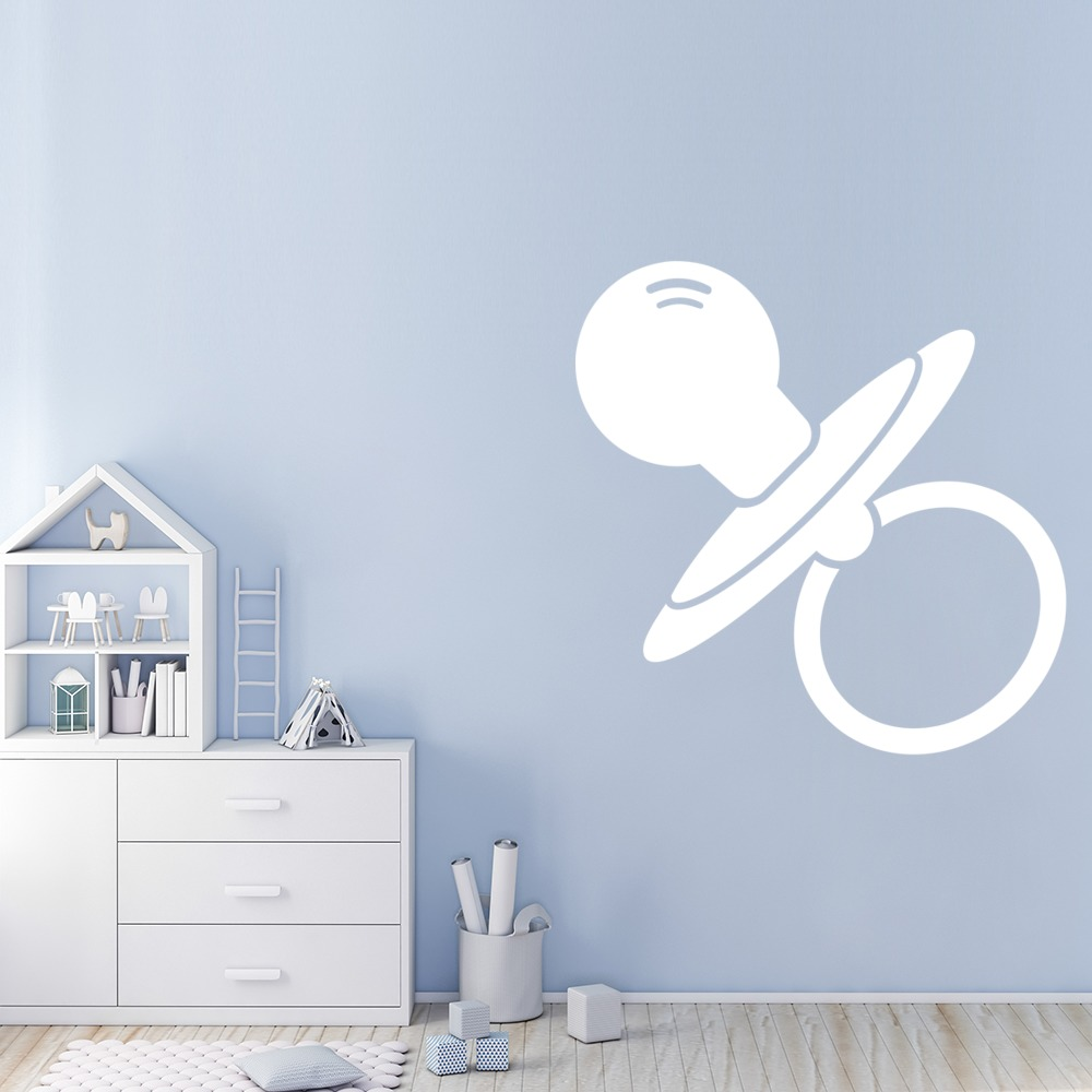 Baby Dummy Pacifier Soother Nursery & Baby Wall Stickers Home Decor Art Decals