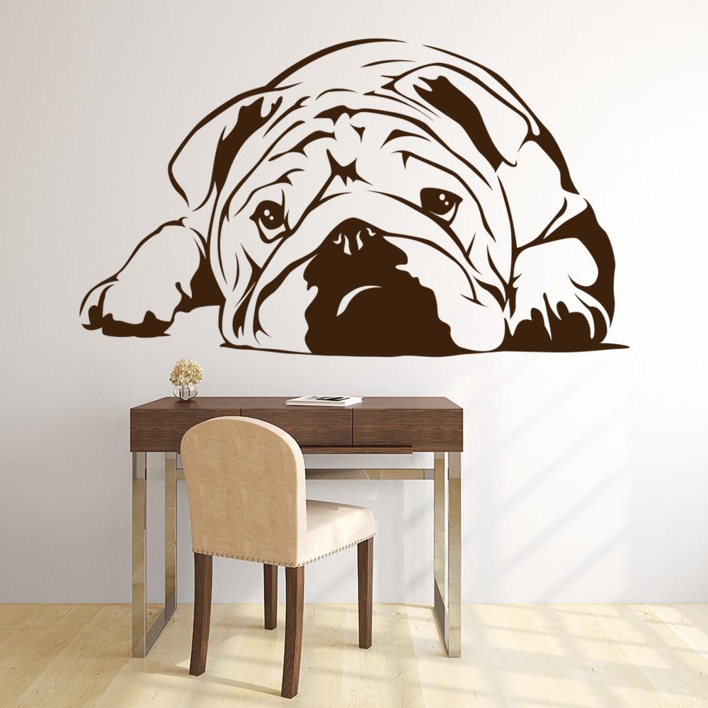 English Bulldog Wall Sticker Dog Wall Art