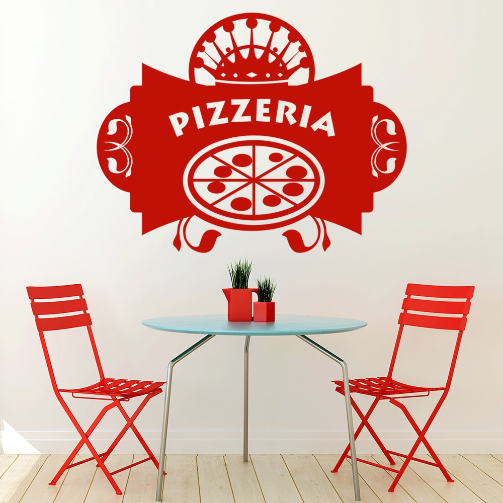 Pizzeria Badge Decorative Wall Art Stickers Decal