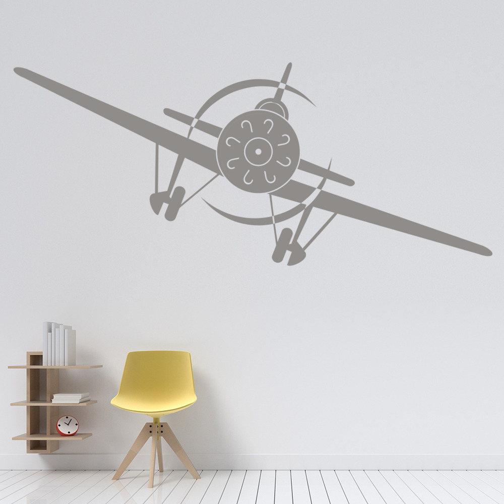 Aeroplane Front Wall Sticker Airplane Wall Art