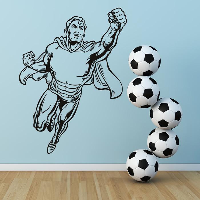 Superman Flying Wall Art Sticker Decorative Wall Decal