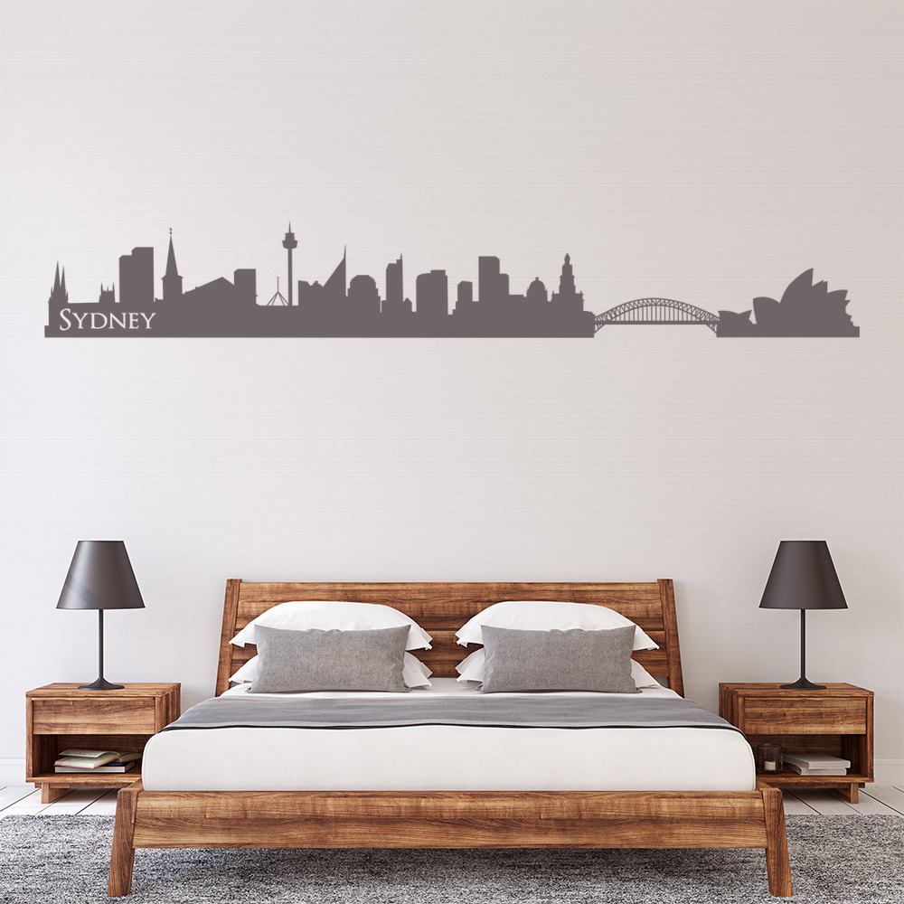 Sydney Australia Skyline Rest of the World Wall Stickers Home Decor Art Decals