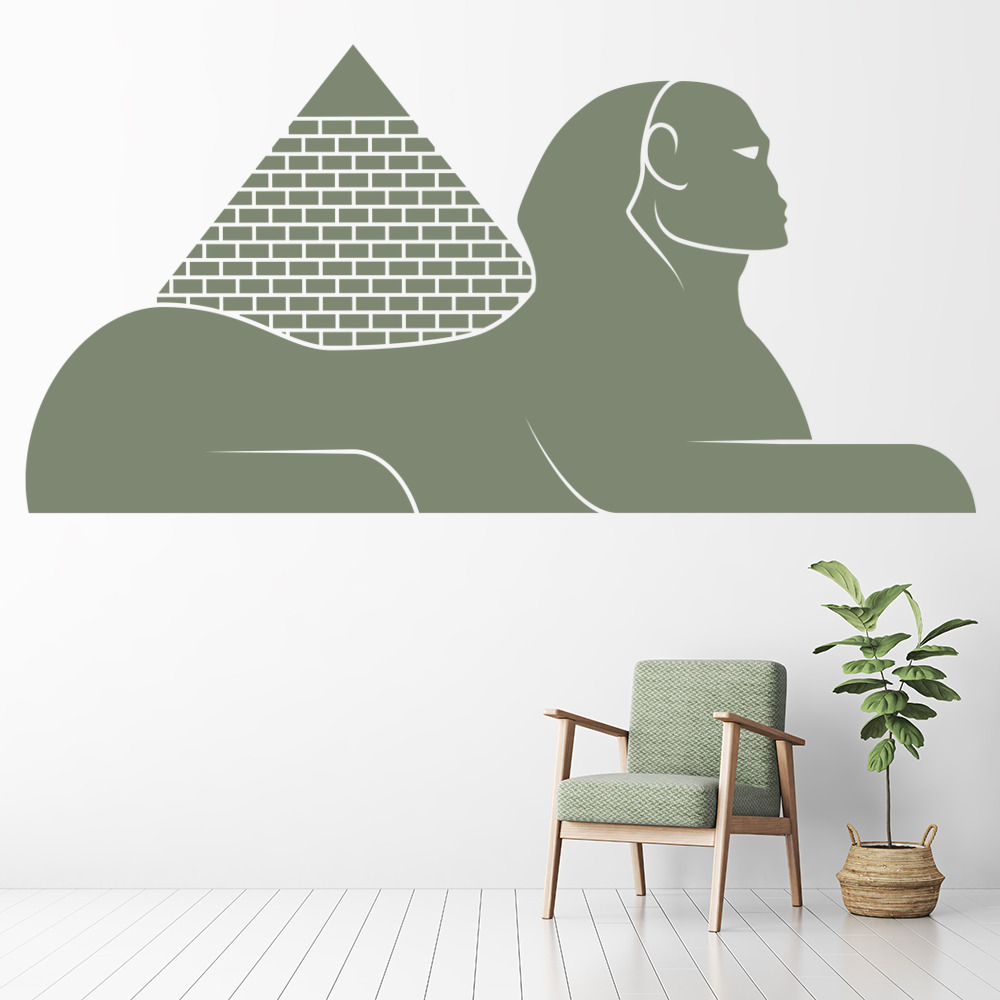 Egyptian Pyramid & Sphinx Rest of the World Wall Stickers Home Decor Art Decals