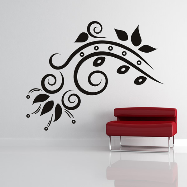 Floral Design Decorative Wall Art Stickers Wall Decal