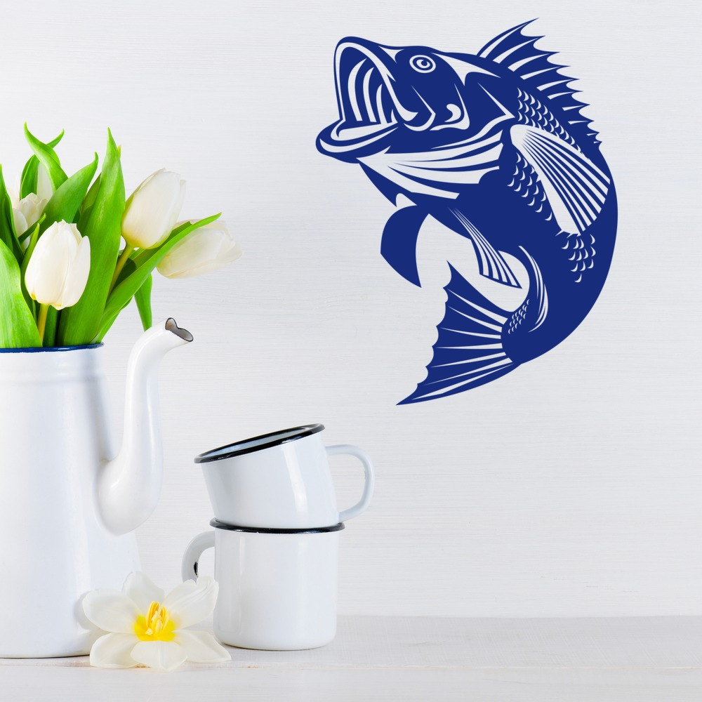 sea bass wall sticker fish wall art