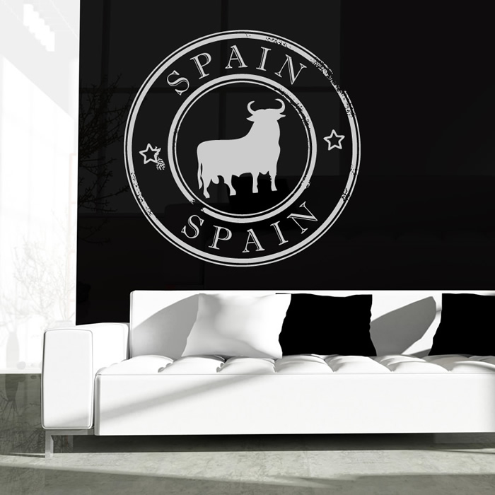 Spanish Bull Spain Badge Rest of the World Wall Stickers Home Decor Art Decals