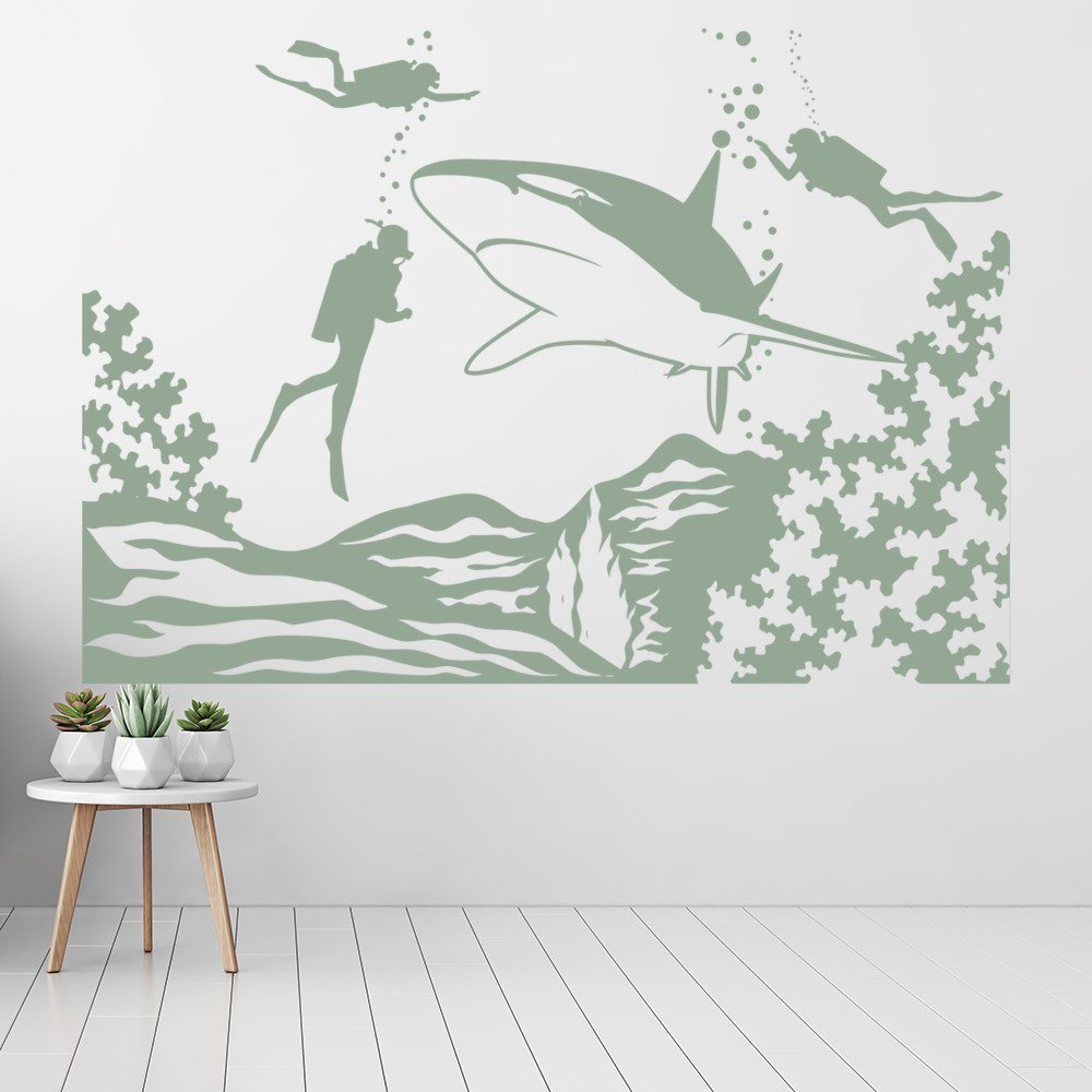 Scuba Diving Wall Sticker Sea Wall Art