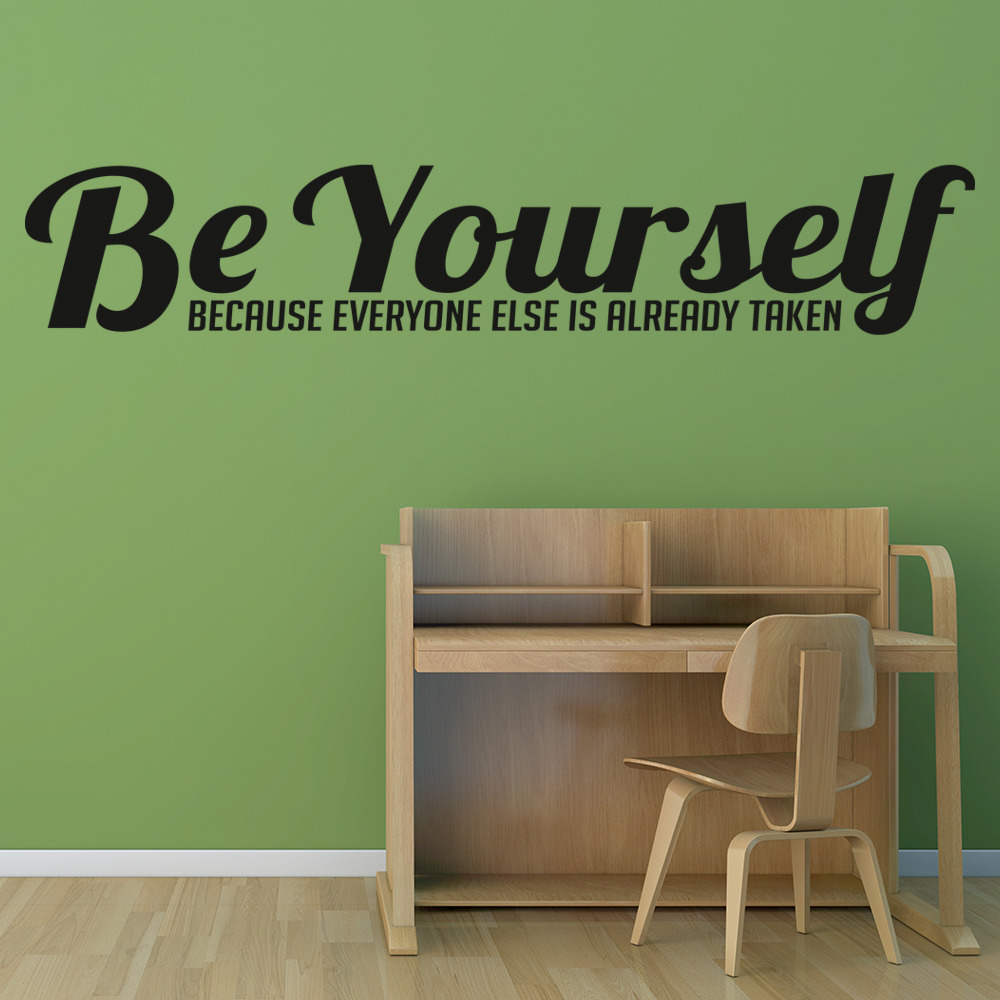Be Yourself Everyone Else… Life And Inspirational Quote Wall Stickers Home Decal