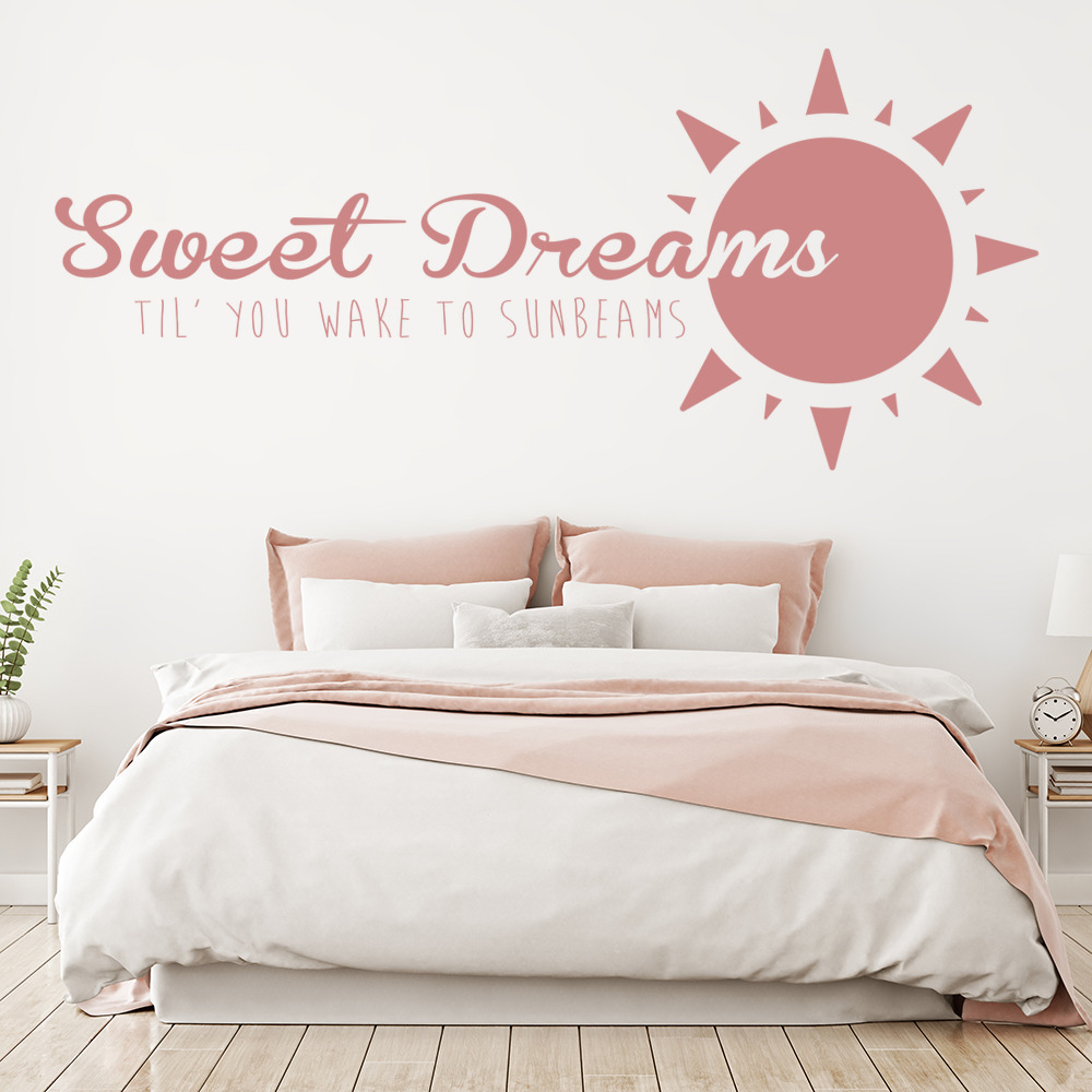 Sweet Dreams Life And Inspirational Quote Wall Stickers Home Decor Art Decals