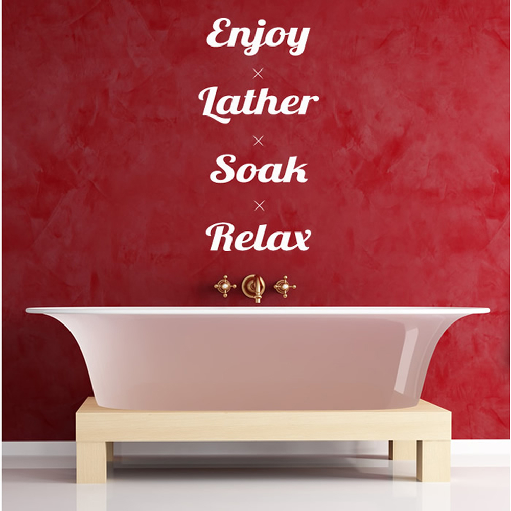 Enjoy, Lather, Soak, Relax Wall Sticker Bathroom Wall Art