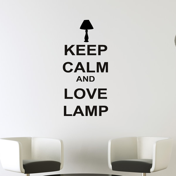 Keep Calm And Love Lamp Keep Calm Quotes Wall Stickers Home Decor Art Decals