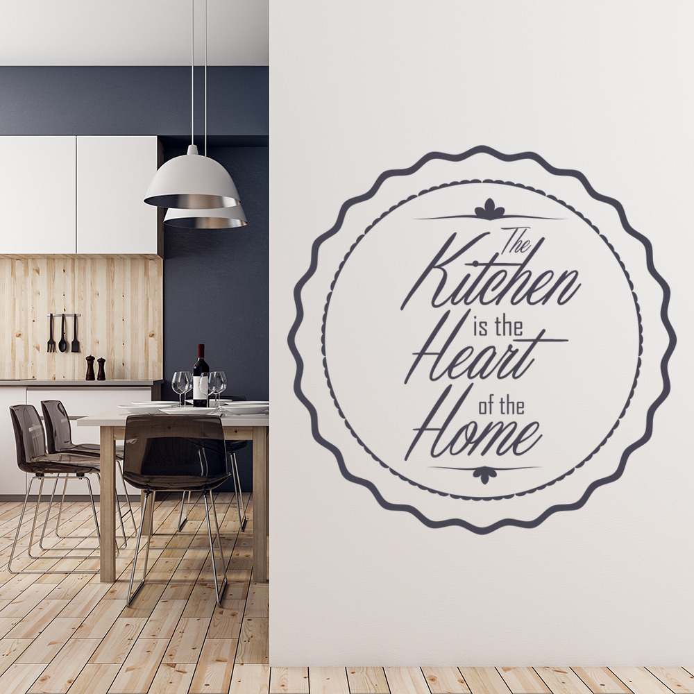 Kitchen Is The Heart Wall Sticker Kitchen Wall Art