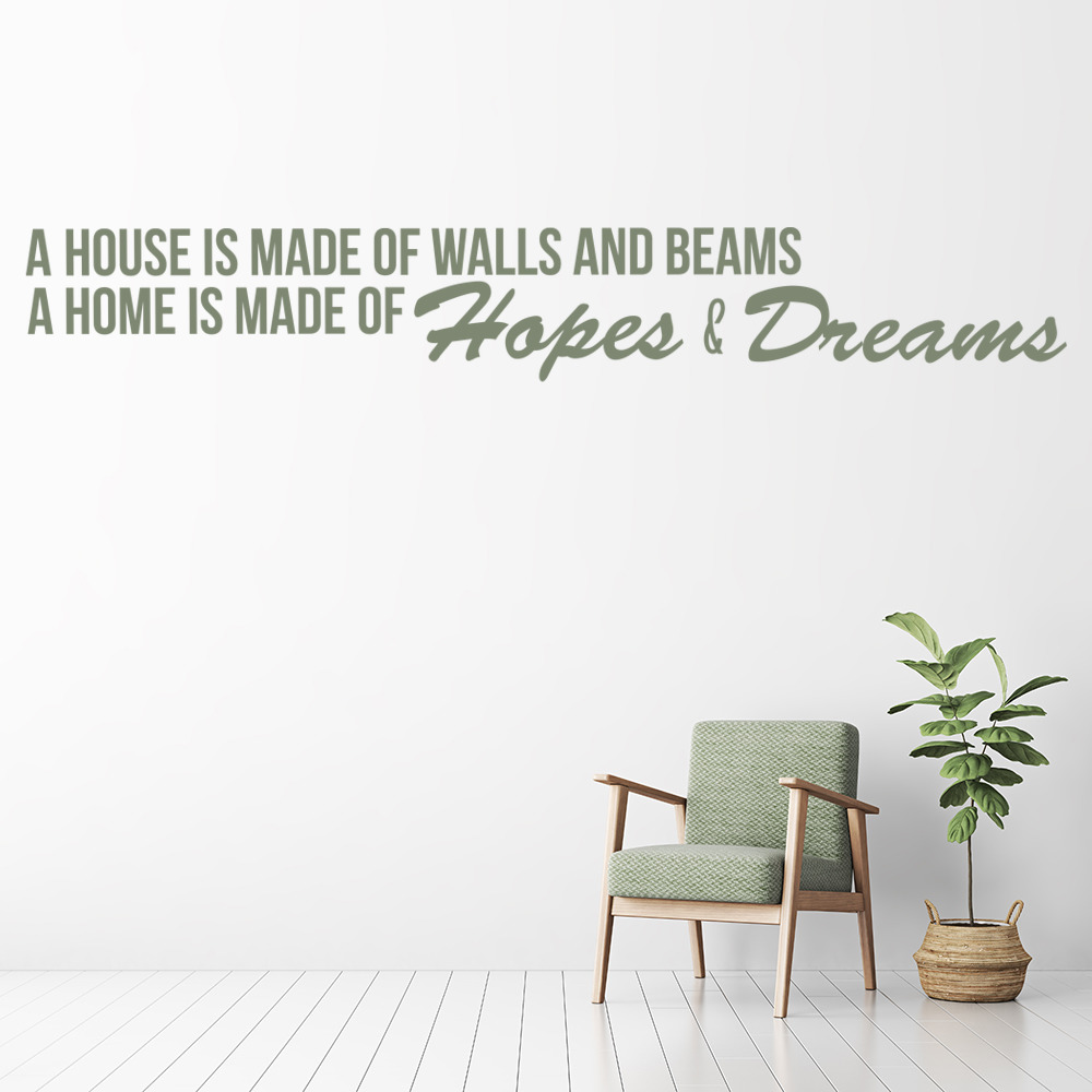 House Of Hopes And Dreams Wall Sticker Home Wall Art