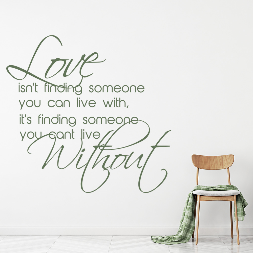 Love Isn't Finding Someone Wall Sticker Love Wall Art