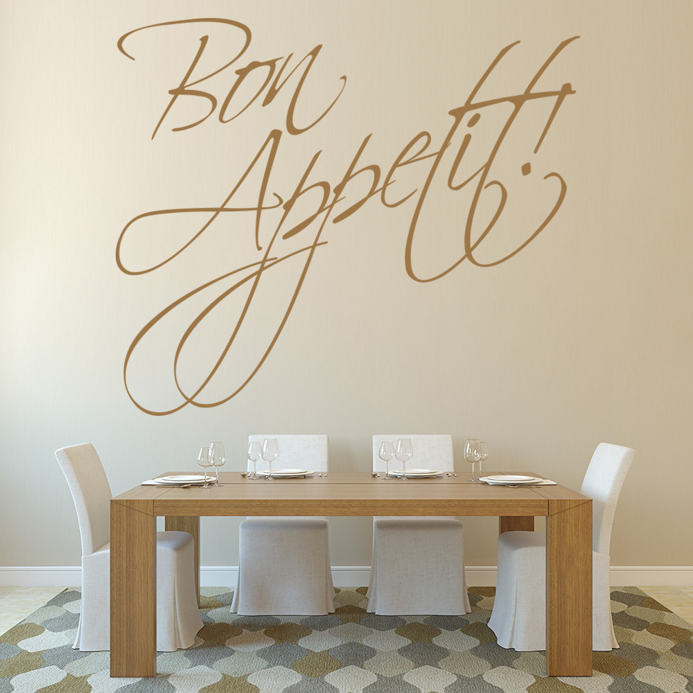 Bon Appetite Wall Stickers Kitchen Text Wall Art