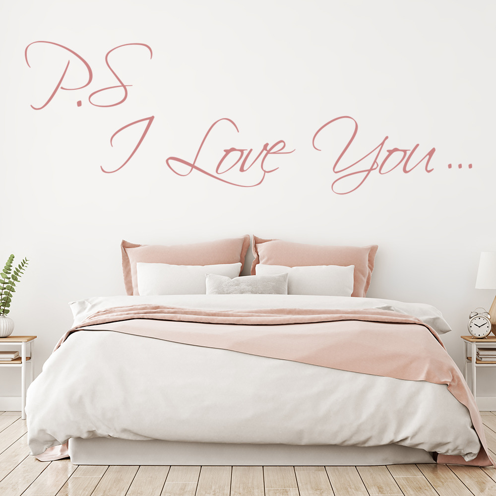 P.S I love You Wall Sticker Love Wall Art
